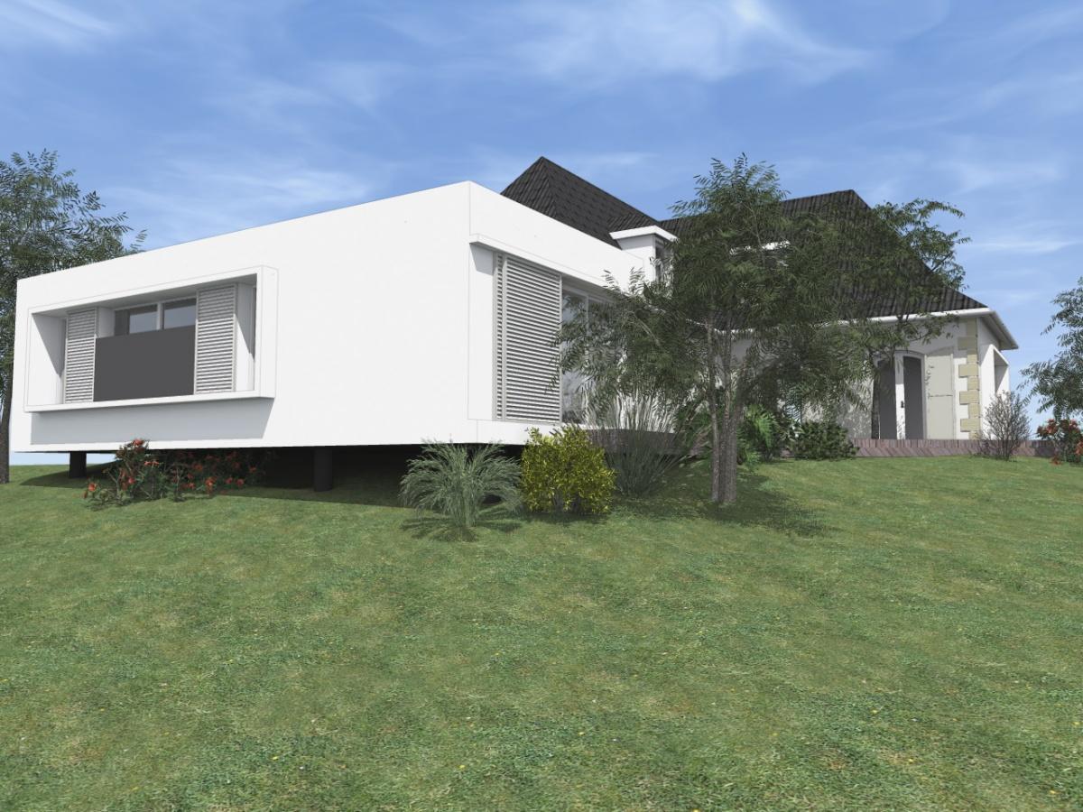 Rénovation et extension d'une Périgourdine 2018 : 3D - Projet