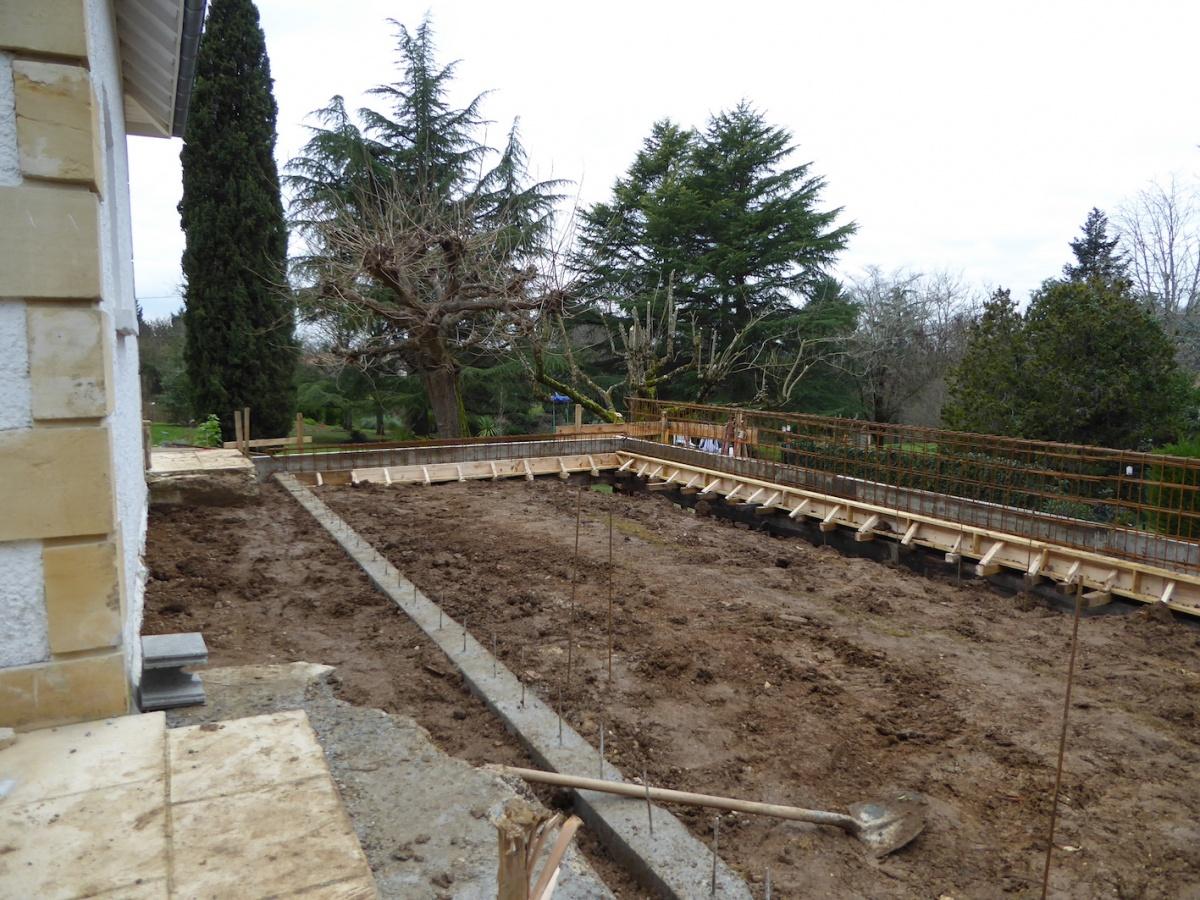 Rénovation et extension d'une Périgourdine 2018 : Chantier - Fondations