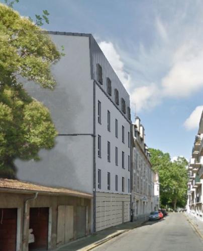 Réhabilitation et construction de 15 logements en centre ville : photo pour insertion camy