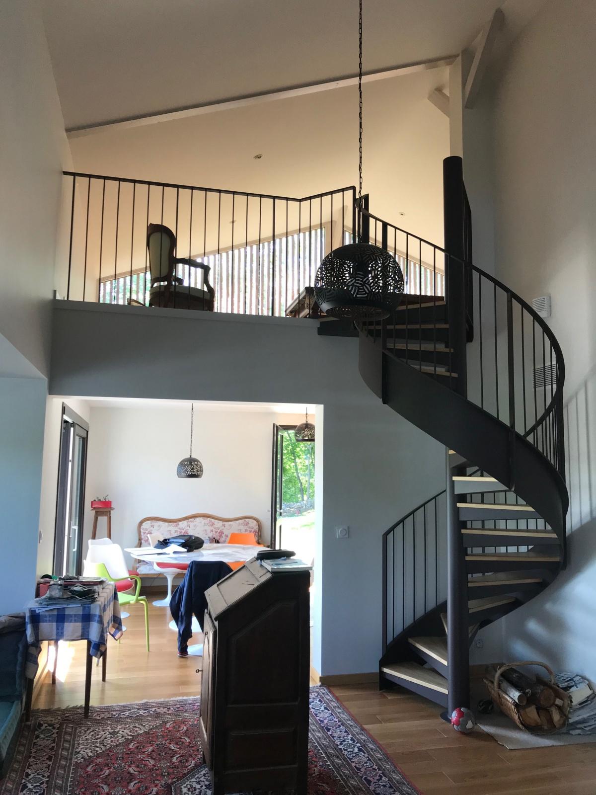 Maison individuelle à ossature bois BBC : Intérieur rdc