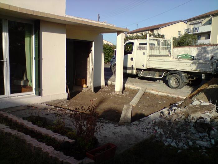 extension sur Caudéran : début chantier