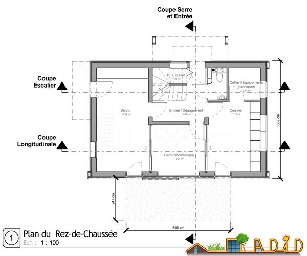 Maison 'Coeur de soleil' : Plan RdC