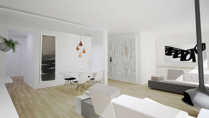 Appartement familial + Studio en annexe : Salon 02