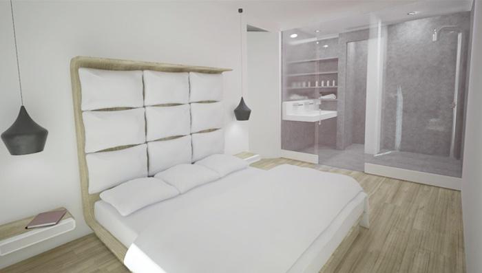Appartement familial + Studio en annexe : Suite parentale