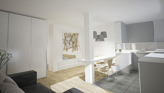 Appartement familial + Studio en annexe : Studio en annexe