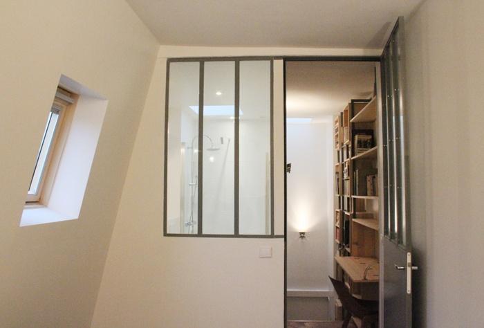 Duplex sous les toits à Montmartre : 27-Y+S-Chambre