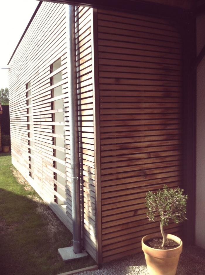 EXTENSION P : Extension bardage bois clairevoie