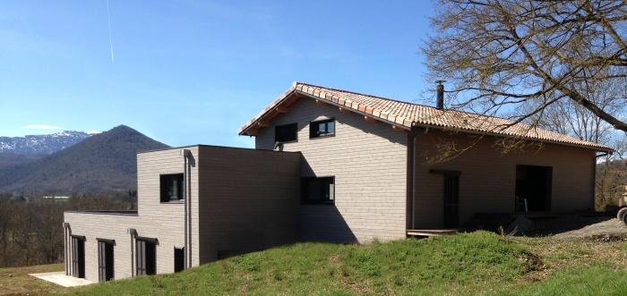 Maison individuelle à ossature bois BBC : Façade Nord.JPG