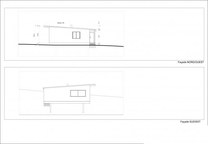 Maison individuelle à ossature bois BBC : PROJET Façades
