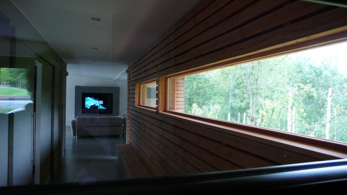 Maison individuelle à ossature bois BBC : COULOIR