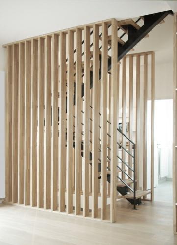 Rénovation + surélévation d'un pavillon : yeme-saunier-nogent-escalier