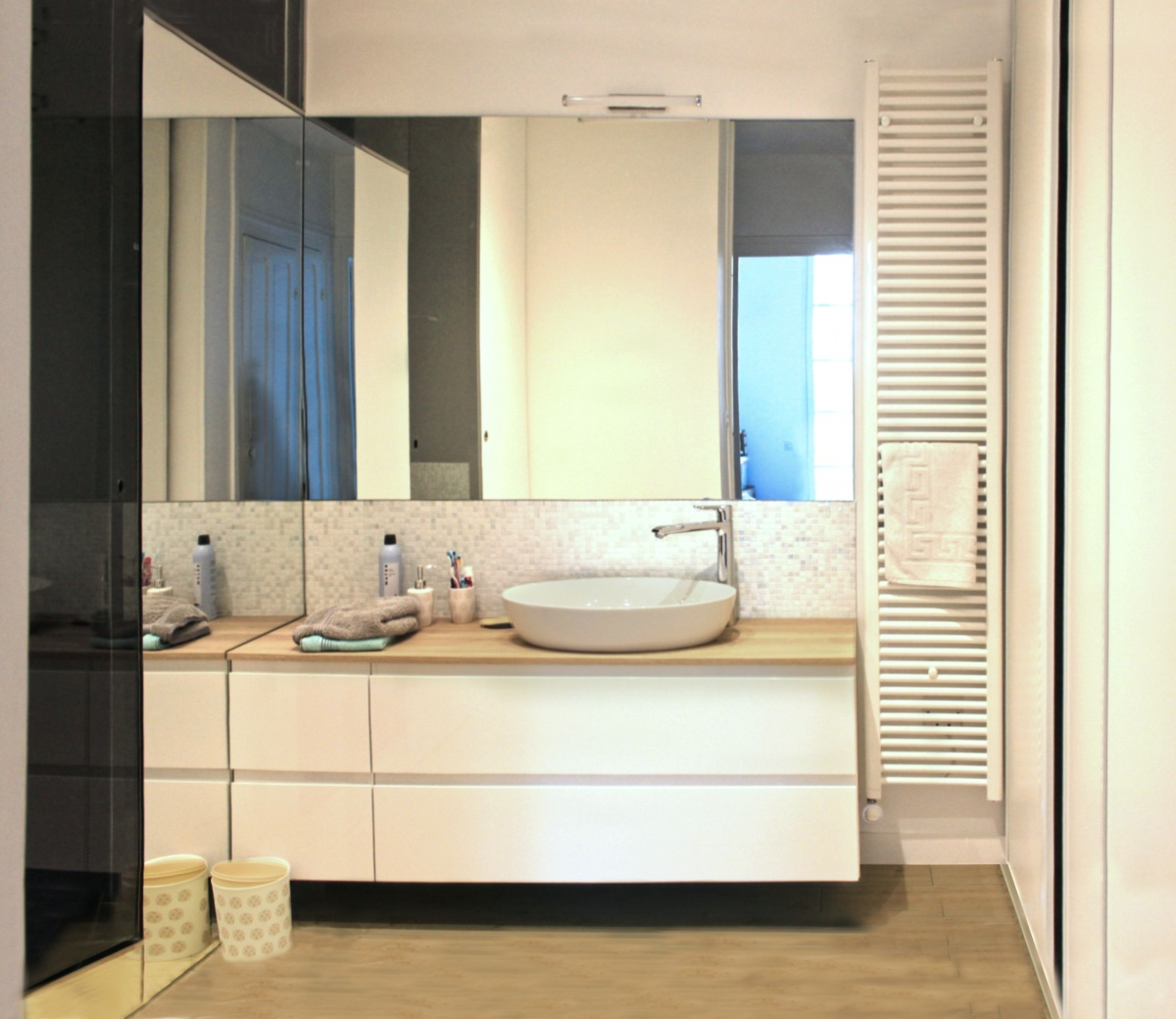 Rénovation d'un appartement de type haussmanien : 4 vasque